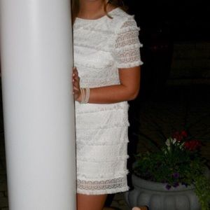 Tahari Arthur S. Levine White Dress
